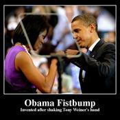 Obama fistbump invented after shaking tony weiner s hand d97c0a