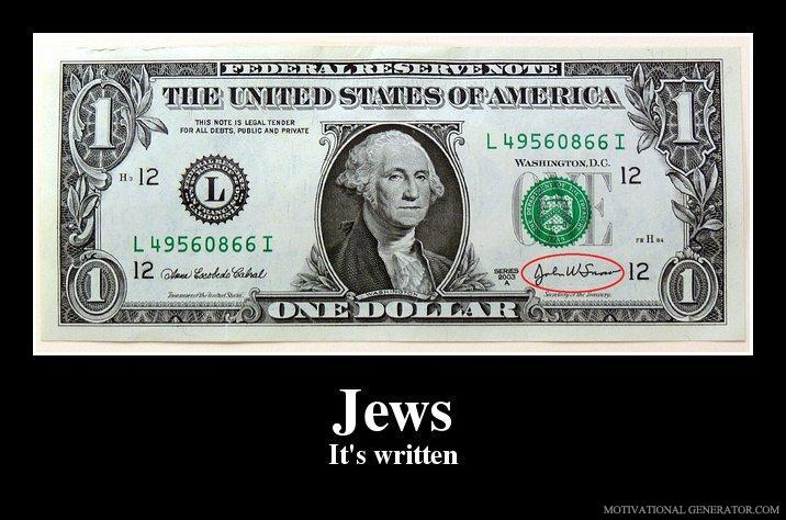 - It's written...on a dollar bill.